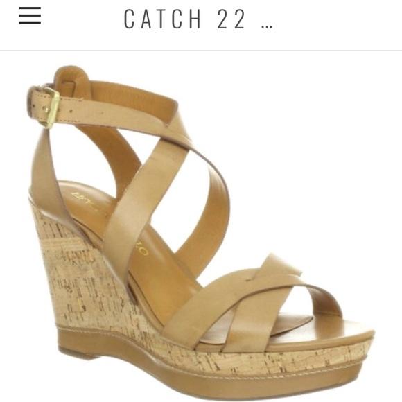 c189378bf57 Franco Sarto Shoes - Franco Sarto Taupe Sophie Cork Wedges Sz 8.5